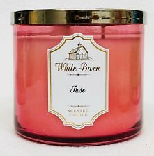 1 Bath & Body Works White Barn ROSE Large 3-Wick Scented Candle 14.5 oz