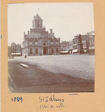 DELFT c. 1900 - Hôtel de Ville  Place  Statue  Pays Bas - FD Hol 132