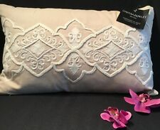 NEW Cynthia Rowley Beaded & embroidered Lumbar Toss Pillow 12 x 20