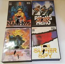 4 Neo Geo AES Games Nam 1975  Riding Hero Super Spy Magician lord All Complete
