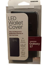 NEW Original Samsung Galaxy S7 LED Wallet View Cover Case Folio