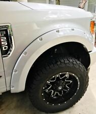 2016 Ford F250  Painted Large Pocket Style Flares USA Stainless Steel Bolts