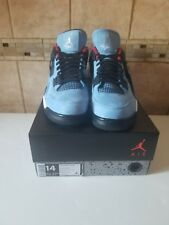 "Air Jordan 4 Travis Scott size 14 ""Cactus Jack"" Blue Red Black 308497-406"