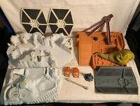 Vintage STAR WARS vehicle playset Parts lot Vader TIE Fighter CLOUD CAR Jabba