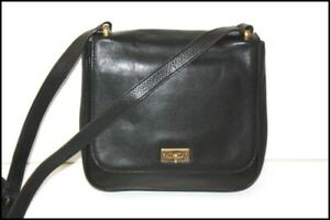 Fossil Small Bag besace Leather Smooth Black Shoulder Strap Very Good Condition