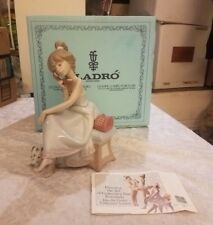 "LLADRO ""CHIT-CHAT"" #5466 FIGURINE ~ GIRL W/DOG TALKING ON PHONE ~ MINT IN BOX ~"