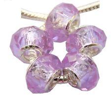 20pcs Crystal Glass Big Hole Beads Fit European Charm Bracelet Choose Color ZH13