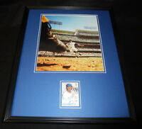 Willie Davis Signed Framed 16x20 Photo Display TOPPS Dodgers