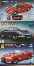 3 Modellauto-Bausätze in 1/24 von Ferrari Vorbildern in Originalkartons