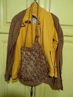 lot 3piéces assorties couleurs  gilets  ,sac  tressé   bel ensemble femme