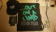 Steven Tyler Out on a Limb Tour VIP Package Aerosmith Hat Coozie Drawstring Bag