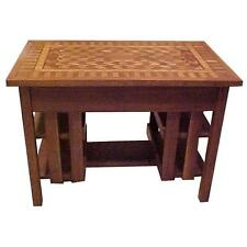 Early 20th c. Arts & Crafts Stickley Mission Style Desk Writing Table Inlay Top