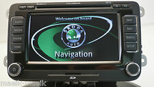 SKODA RNS 510 COLUMBUS LCD SAT NAV DVD MP3 UNIT / WITH LATEST 2017 V14 MAPS