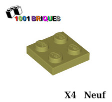 Lego 3022 x4 Plate 2 x 2 Olive Green
