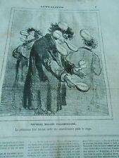 Caricature 1874 - Nouvelle Maladie parlementaire amendements plain le corps