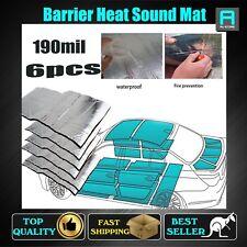 12.9Sqft Car Foam Insulation 6 Sheet Adhesive Heat Sound Deadener Barrier 190mil