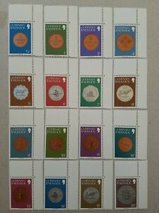 Bailiwick Of Guernsey Coin Stamps MNH ,  Set of 16 Stamps