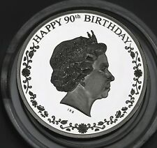 Cook Islands $1 Dollar Silver Proof Coin 2016 QEII 90th B-day 2500 Minted GEM