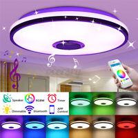 60W Dimmbar LED Deckenleuchte Lampe bluetooth Lautsprecher mit APP Fernbedienung