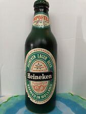 16� Vtg Hollow Wood Heineken Beer Bottle Display With Flaws