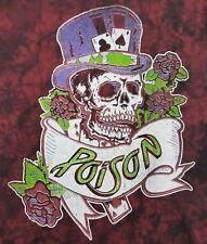 Men's Poison Med T-Shirt Licensed Dragging the Cat Across America 87 Tour Band