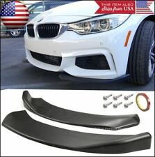 Bumper Lip Valance Spoiler Chin Splitters Black Winglet Blade For BMW AUDI