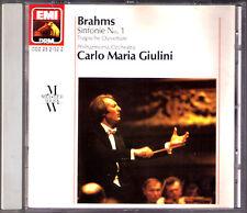 Carlo Maria GIULINI: BRAHMS Symphony 1 Tragic Overture CD Philharmonia Sinfonie