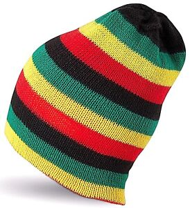 Stripe Beret Hat Women Boys Girls Fashion Hats Beanie Rasta Jamaican