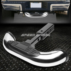 "1.25/2"" RECEIVER CHROME TRAILER TOWING TAILGATE/HITCH COVER REAR STEP BAR GUARD"