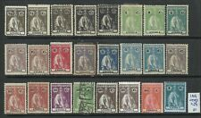 Angola 1914 - Ceres x 24 stamps Used / MH / MNG