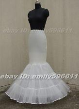 Ivory/White/Black Mermaid Wedding Gown Petticoat Crinoline Underskirt Slip
