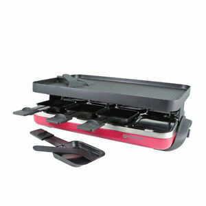 NEW Swissmar Valais 8 Person Raclette Party Grill Red (RRP $349)