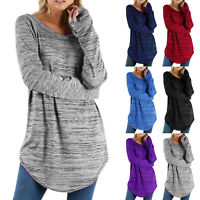 Womens Long Sleeve Baggy T-Shirt Ladies Loose Blouse Tops Tunic Casual Plus Size