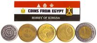 5 EGYPTIAN COIN LOT. DIFFER COLLECTIBLE COINS FROM AFRICA. FOREIGN CURRENCY