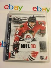NHL 10 For PlayStation 3 PS3 Hockey With Manual And Case