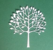 5 x TREE DIE CUTS Memory Box -Toppers, Cards, Christmas, Easter  - WHITE