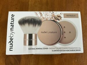 Nude By Nature Natural Minerial Cover Foundation Powder - Free Kabuki Brush 1.5g