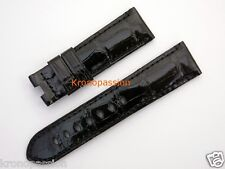 Panerai Black Alligator Strap 22mm by 20mm for Luminor 40mm OEM New !