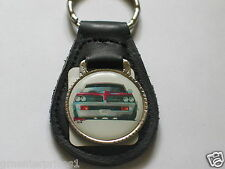 Pontiac GTO 1969 Keychain Leather Key Chain,  (#756)(**)