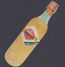 ca. 1900 Round Bottom Hydrox Ginger Ale Consumers Co. Chicago die-cut Trade Card