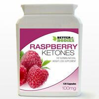 120 Raspberry Ketones Pills Weight Loss Diet Supplement Bottle Capsules