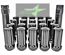 32 BLACK SPLINE TRUCK LUG NUTS | 14X2.0 | FORD F-250 F-350 SUPERDUTY + 2 KEYS