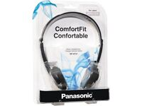 Panasonic RP-HT21 Headphones Lightweight Headphones with XBS, Black/Silver