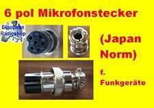 Mikrofonstecker für Funkgeräte 6 Pol ( Japan Stecker ) f. Amateur & CB-Funk