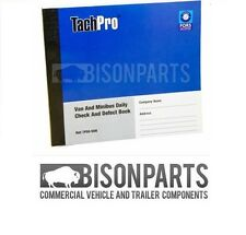 *TACHPRO 50 PAGE DRIVER DAILY DUPLICATE DEFECT CHECK BOOK VAN & MINIBUS - 100212