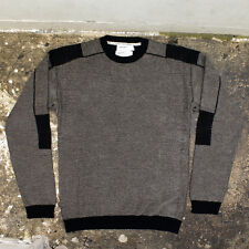 NEW Hussein Chalayan Grey & Black Knitted Jumper GENUINE - Size 52