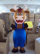 New ox cow bull  Mascot Costume Fancy Dress Adult Suit Size R185