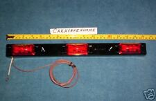 LED ID Marker 3 Light Bar RED Trailer Truck DOT 80 SURFACE MOUNT replacable LEDS