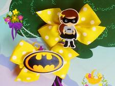 DC Super Hero Girls Batgirl Batwoman Inspired Costume Dress Handmade Hair Clip