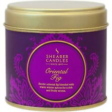 Shearer Candles Home Oriental Fig, Large Scented Tin Candle, 40 Hour Burn, 72mm